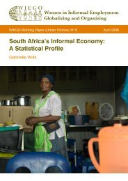 South Africa's Informal Economy: A Statistical Profile - WIEGO