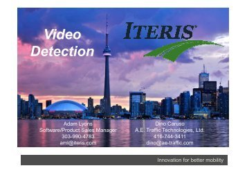 Video Detection - (ITS) Canada