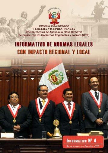 boletin de normas legales - Congreso de la República del Perú