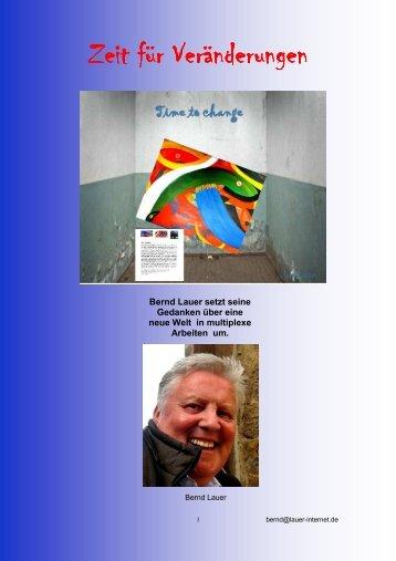 Zeit für Veränderungen Zeit für Veränderungen - Bernd Lauer
