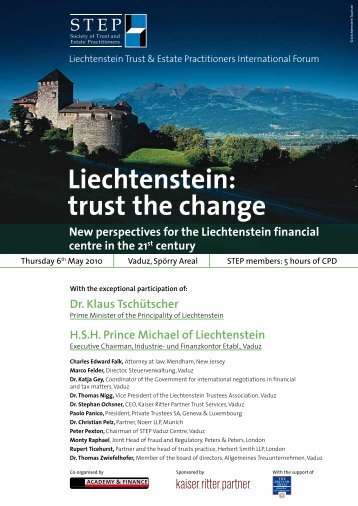 Liechtenstein: trust the change - STEP
