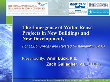 The Emergence of Water Reuse Projects in New Buildings and New ...
