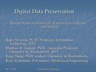 Digital Data Preservation - Family History Technology Workshop