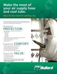 Make the most of your air supply hose and cool tube ... - Bullard