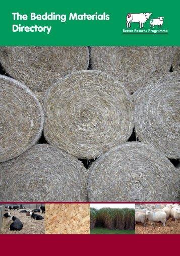 Bedding materials directory - Eblex