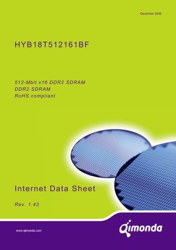 Internet Data Sheet HYB18T512161BF-20/22/25/28/33 Rev ... - UBiio