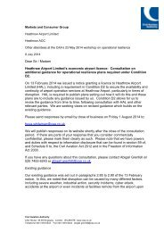 Heathrow - consultation on additional guidance under operational resilience conditions