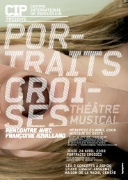 theatre musical portraits croises