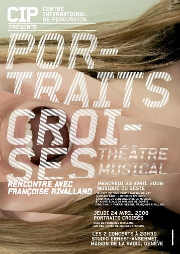 theatre musical portraits croises