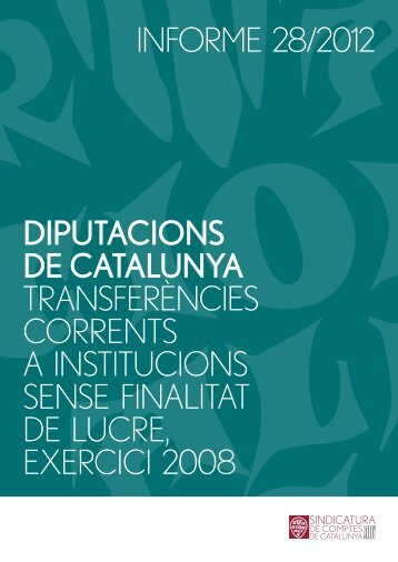 Informe 28/2012 - Diputació de Barcelona