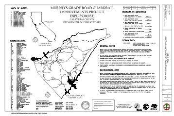 murphys grade road guardrail improvements ... - Calaveras County