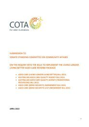 submission to senate standing committee on community ... - Cota