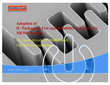 Adoption of IC Packaging, Test and Reliability Advances ... - Meptec