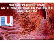 Antitrombóticas en Pacientes con Trauma - Reeme.arizona.edu