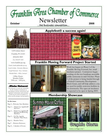 Newsletter - Franklin Area Chamber of Commerce
