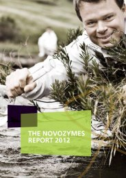 THE NOVOZYMES REPORT 2012