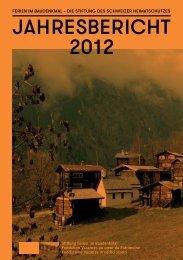 Download Jahresbericht 2012 - Ferien im Baudenkmal