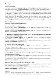 Leggi tutto - Dipartimento di Chimica e Chimica Industriale