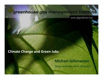 Climate Change and Green Jobs by Michael Gillenwater