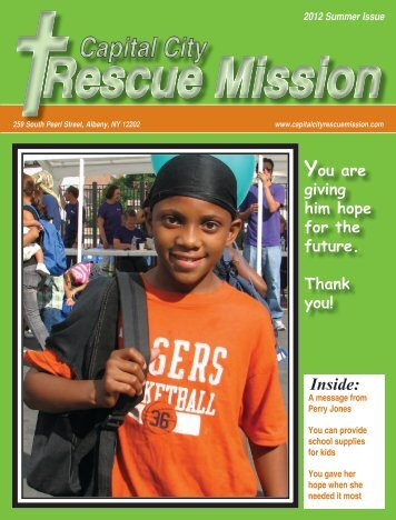 2012 Summer Newsletter - Capital City Rescue Mission
