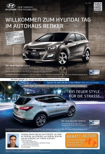 zum HyuNdAI TAg Im AuTOHAus ReNKeR - Autohaus Renker GmbH