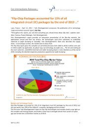"""Flip-Chip Packages accounted for 13% of all integrated circuit (IC ..."
