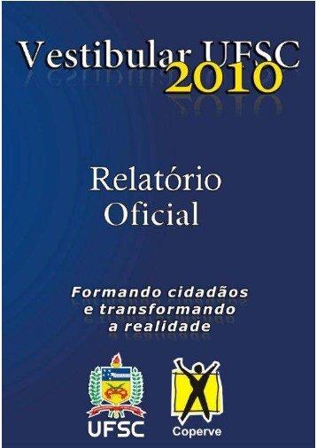 Relatório Oficial Completo [PDF] - Vestibular UFSC/2010