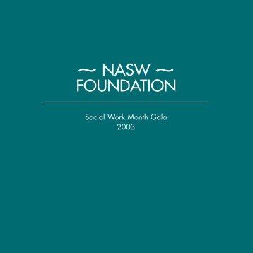 Please click here to view the program - NASW Foundation