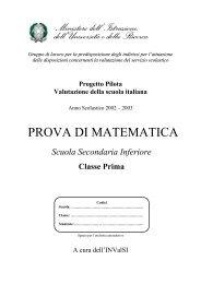 prova invalsi 2002 – 2003 matematica prima media - Engheben.it