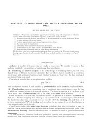 Clustering, Classification and Contour Approximation ... - Benisrael.net