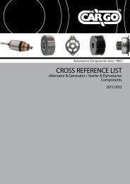 CROSS REFERENCE LIST - Custom.ch