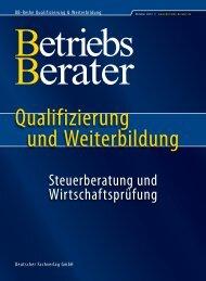 Steuerberatung und Wirtschaftsprüfung Herbst 2012 - Betriebs-Berater