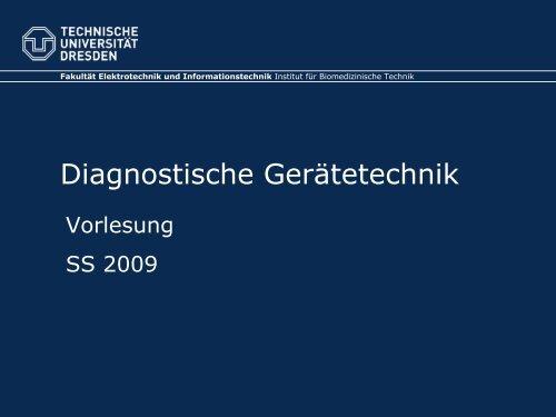 Diagnostische Gerätetechnik - Fakultät Elektrotechnik und ...