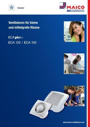 Ventilatoren für kleine und mittelgroße Räume /120 150 - Maico