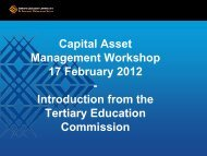 Capital Asset Management Workshop - Tertiary Education ...