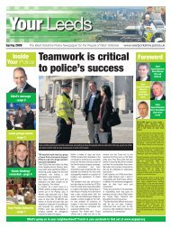 Teamwork is critical to police's success - West Yorkshire Police