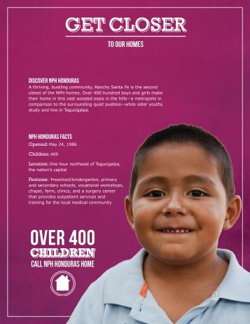 NPH Honduras Fact Sheet (PDF) - Friends of the Orphans