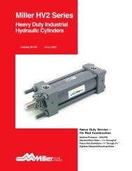 Miller HV2 Series Heavy-Duty Hydraulic Cylinders
