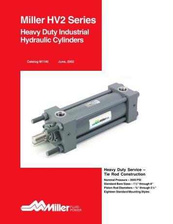 Miller HV2 Series Heavy-Duty Hydraulic Cylinders