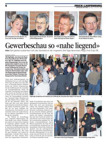 Berichte der AZ Fricktal - beim GEWERBE REGION FRICK ...