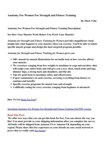 Strength training anatomy workout ii the the strength training delaviers core training anatomy book pdf anatomy for women for strength and fitness training pdf free fandeluxe Images