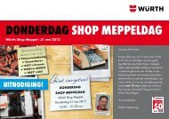 donderdag shop meppeldag - Würth Nederland