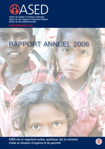Rapport annuel 2006 - ASED