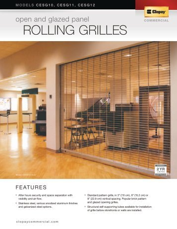ROLLING GRILLES - Clopay