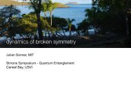 dynamics of broken symmetry