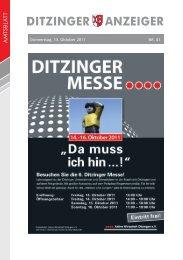 Herzlich willkommen! 15.10.2011, 11:30 bis 13:00 Uhr - in Ditzingen