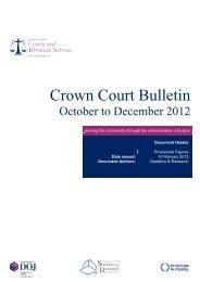 Crown Court Bulletin October - December 2012 - Northern Ireland ...