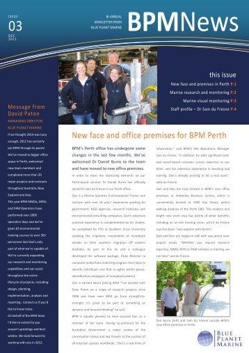 Newsletter - December 2011 - Blue Planet Marine