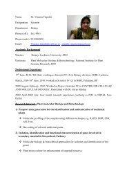 Name: Dr. Vineeta Tripathi Designation: Scientist Department ...