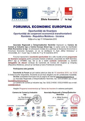 Invitatie - program - Agentia pentru Dezvoltare Regionala Nord-Est